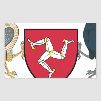 Isle of Man Republican Coat of Arms - Manx Emblem Rectangular Sticker