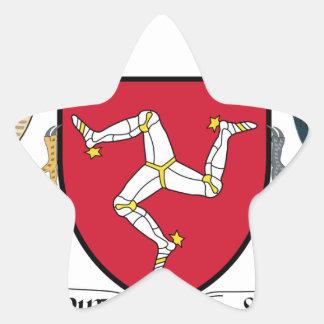 Isle of Man Republican Coat of Arms - Manx Emblem Star Sticker