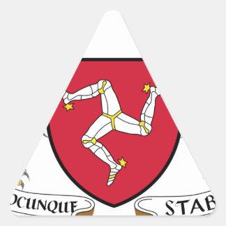 Isle of Man Republican Coat of Arms - Manx Emblem Triangle Sticker