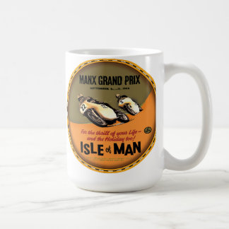 Isle of Man vintage motorcycle races Coffee Mug