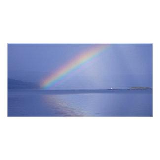 Isle of Mull Rainbow Custom Photo Card