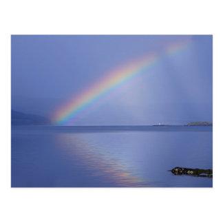 Isle of Mull Rainbow Postcard