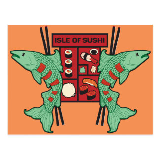 Isle of Sushi Postcard