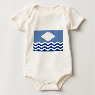 Isle Of Wight Flag Baby Bodysuit