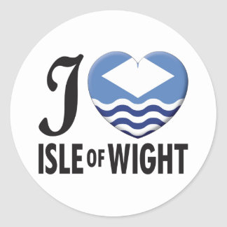 Isle of Wight Love Classic Round Sticker