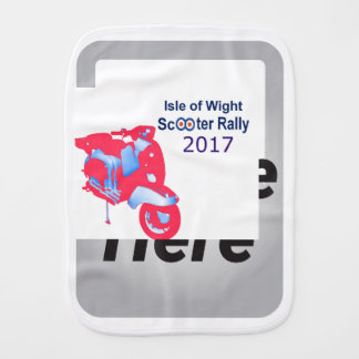 Isle of Wight Scooter Rally 2017 Burp Cloth