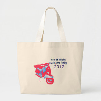 Isle of Wight Scooter Rally 2017 Large Tote Bag
