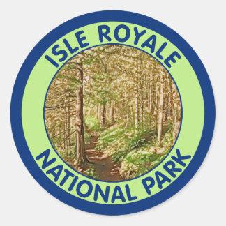 Isle Royale National Park, Michigan Classic Round Sticker