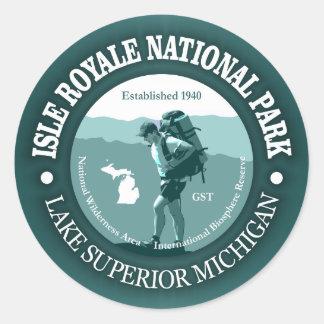 Isle Royale NP Classic Round Sticker