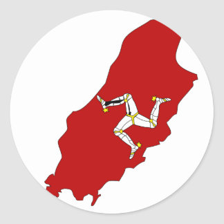 Isleofman flag map classic round sticker