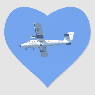 Isles Of Scilly Skybus Heart Sticker