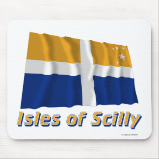 Isles of Scilly Waving Flag with Name Mouse Pad