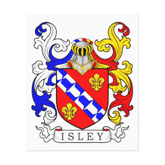 Isley Coat of Arms III Gallery Wrapped Canvas