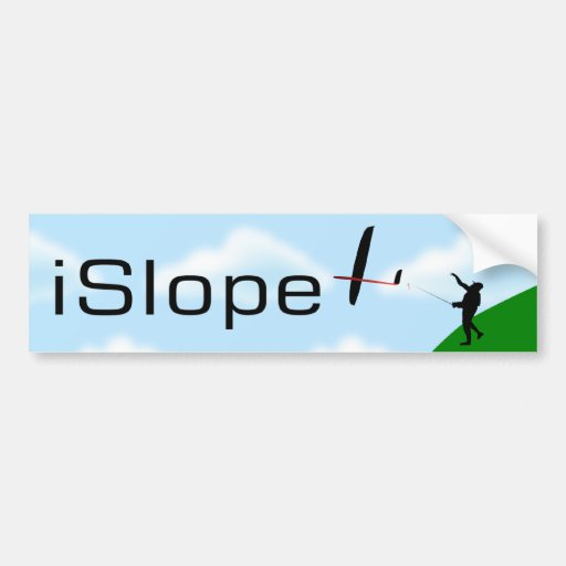iSlope R/C Slope Soaring Bumper Stickers