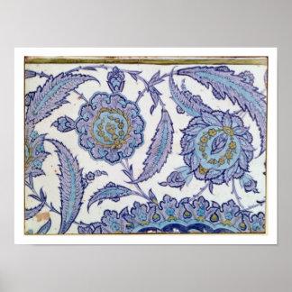 Isnik earthenware tile, c.1520-50 poster