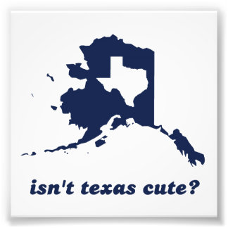 Isn't Texas Cute Compared to Alaska Photo Print