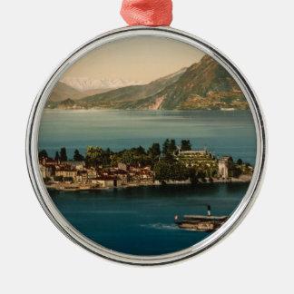 Isola Bella III, Lake Maggiore, Piedmont, Italy Metal Ornament