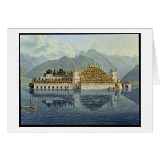 Isola Bella, Lake Maggiore: the terraced gardens, Card