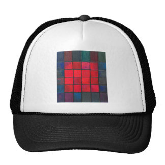 Isolated 16 Red Squares (Geometric expressionism) Cap