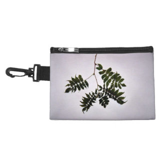 Isolated dark green leaves branch accessories bag
