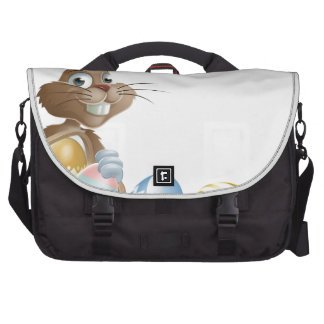 Isolated Easter footer design Bags For Laptop