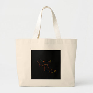 Isolated feet tote bags