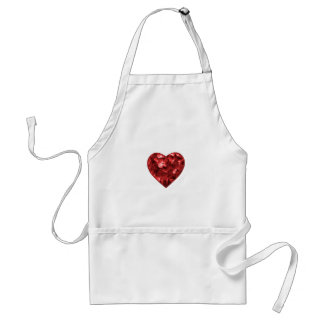 Isolated Floral Heart Shape Ornament Standard Apron