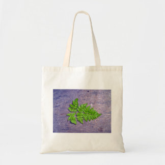 Isolated fresh fern leaf canvas bags
