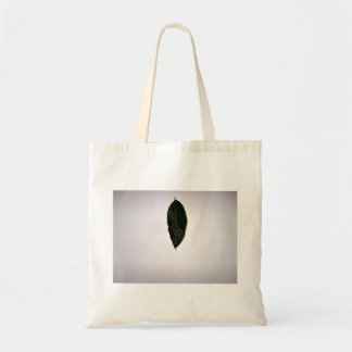 Isolated Green Leaf on white background Tote Bags