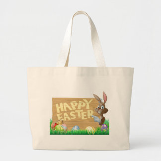 Isolated Happy Easter Bunny Bag