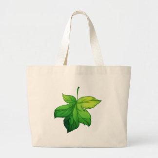 Isolated leaf on white jumbo tote bag