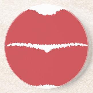 Isolated Lip Kiss Coaster