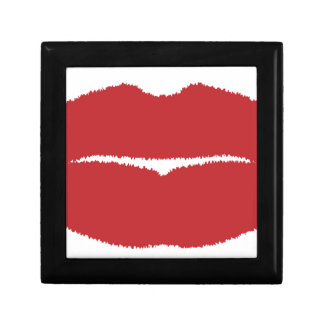 Isolated Lip Kiss Gift Box