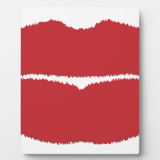 Isolated Lip Kiss Plaque