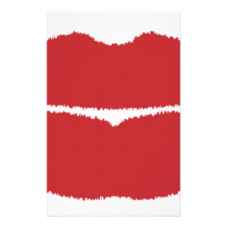 Isolated Lip Kiss Stationery