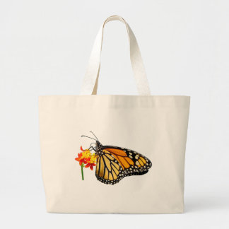 Isolated monarch butterfly canvas bags