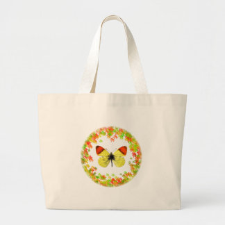 Isolated Morocco orange butterfly Tote Bags