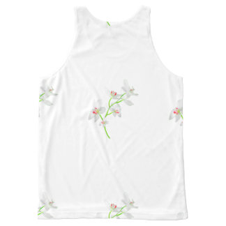 Isolated Orquideas Blossom All-Over Print Singlet