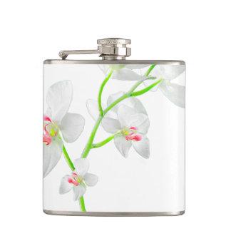 Isolated Orquideas Blossom Hip Flask