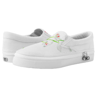 Isolated Orquideas Blossom Slip On Shoes