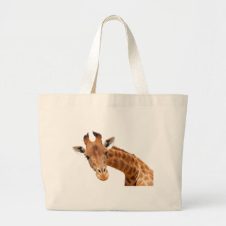Isolated portrait of giraffe PNG Canvas Bags