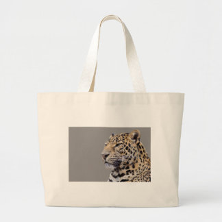 Isolated portrait of Leopard Canvas Bag
