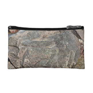 Isolated Rock on mountain Cosmetics Bags