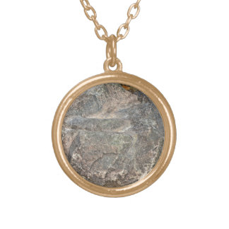 Isolated Rock on mountain Personalized Necklace