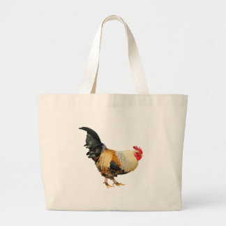 Isolated rooster tote bag