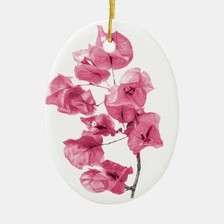 Isolated Santa Rita Flower Ceramic Ornament