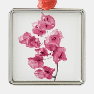 Isolated Santa Rita Flower Metal Ornament