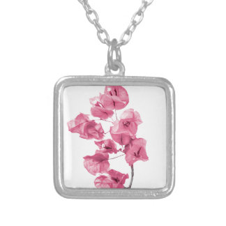 Isolated Santa Rita Flower Silver Plated Necklace