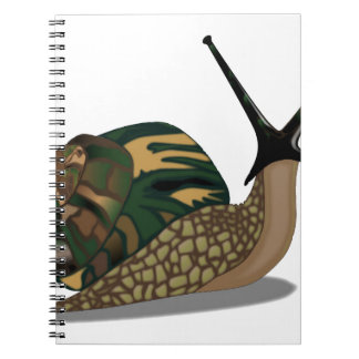 Isolated Snail Note Book