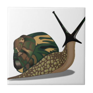 Isolated Snail Small Square Tile